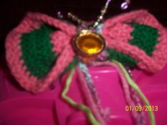 Crochet BUTTERFLY BOW Watermellon Ponytail by NAESBARGINBASEMENT, $12.00