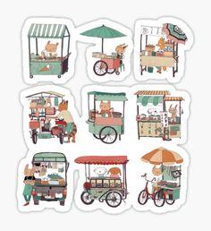 Food vans of Thailand Sticker