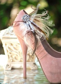 Where could I get something like these gorgeous shoes? ..N x pink wedding shoes