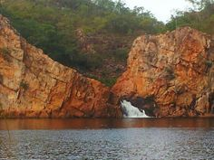 Edith Falls is the end of the Jatbula Trail. Featuring a large freshwater lagoon within Nitmiluk National Park, the falls are about a 40 minute drive north of Katherine in the Northern Territory