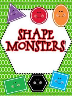 "Shape Monsters - Students use shapes to  make a ""Shape Monster"". After creating their monsters, students count and graph how many of each shape used on the sheets provided."