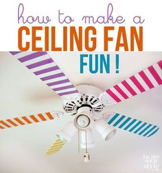 Cute DIY Room Decor Ideas for Teens - DIY Bedroom Projects for Teenagers -Ceiling Fan Decor