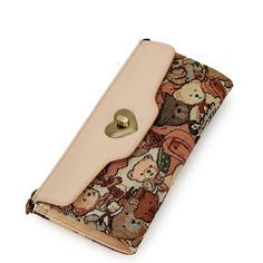 Long Elegant and Fresh,Cute Bear PU and Travel Wallets for Girls