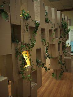 Exhibition design - cardboard modular display on Behance