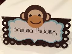 Monkey Baby Shower Food Labels by DragonFlyPapier on Etsy, $13.00