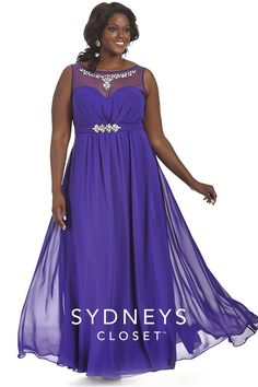 This simple purple dress is great for so many occasions! For the girl who doesn't want all the bling this dress will still shine on the dance floor at prom! Sold in sizes 12 to 32, the Gwendolyn dress is only $239!