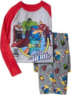 Boys Pop-Culture PJ Sets