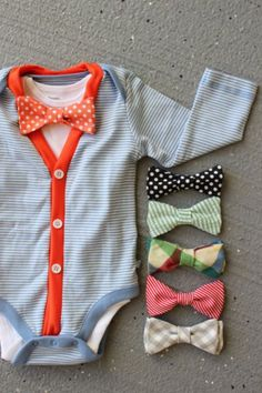 Oh My. Little baby bow ties. I love this!