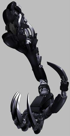Robotic hand design with claws, hand prosthe. -giant Robotic hand design with claws, hand prosthe. Robot Concept Art, Armor Concept, Weapon Concept Art, Character Concept, Character Art, Arte Robot, Arte Cyberpunk, Robot Arm, Robot Design