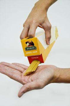 How much spagetti for one serving? This clever packaging gets it right every time.