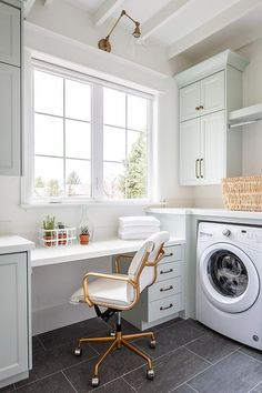 Laundry Craft Rooms, White Laundry Rooms, Mudroom Laundry Room, Laundry Room Cabinets, Laundry Room Remodel, Laundry Room Design, Laundry Room Floors, Mud Rooms, Vintage Laundry Rooms