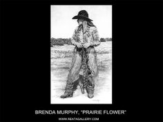 "Western Art by Brenda Murphy, ""Prairie Flower"" Western Art, Cowgirls, Westerns, Art Gallery, Darth Vader, Horses, Flower, Artist, Fictional Characters"