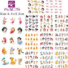 KADS LARGE BLE488-498 one set (11 Sheet IN 1).Water decal Nail Stickers Cartoon design nail sticker For nail accessories