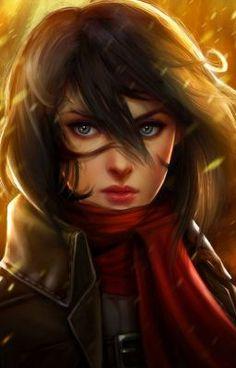 Mikasa Ackerman by Kathryn Steele - Attack on Titan - Shingeki no Kyojin Mikasa, Art Manga, Manga Anime, Aot Anime, Real Anime, Anime Art, Naruto Y Sasuke, Illustration Manga, Eremika