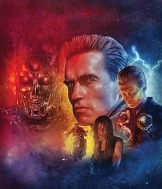 Terminator 2 by Rich Davies Terminator 1984, Terminator Movies, Pulp Fiction Characters, Fiction Movies, James Cameron, King Kong, Tim Burton, Transformers, The Others Movie