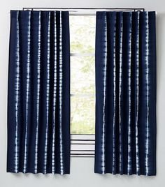Window Treatments - These blue curtains feature a touch of tie-dye to keep your windows looking hip and colorful. Tie Dye Curtains, Cute Curtains, Nursery Curtains, Kids Curtains, Panel Curtains, Curtain Panels, Blackout Curtains, Tie Dye Bedroom, Colonial Home Decor