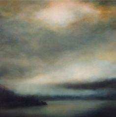 Numinous.  Large scale atmospheric landscape painting by Sharon Kingston