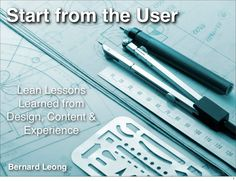 A keynote about product design during the Institution of Engineers Singapore (IES) Design Award 2013 competition. In this talk, I discuss how we should start from the user on product design, whether hardware and software. Part of the emphasis will centered on some interesting principles such as learn from data, less is more and focus on the most boring but interesting feature.