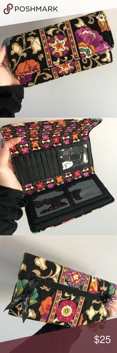 Vera Bradley • Suzani print • tri-fold wallet Suzani print • tri-fold wallet Tons of compartments! Only used a few times Vera Bradley Bags Wallets