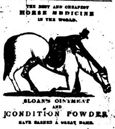 Sloan's Ointment and Condition Powder ad from an 1850 issue of The North Star.