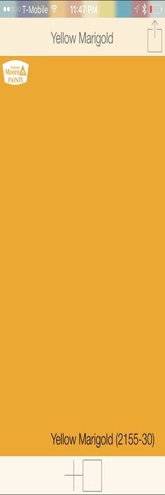 """Yellow front door   Benjamin Moore Yellow Marigold 2155-30   SwatchDeck App   Use the """"Search"""" function in app to access the entire collection of front door colors"""