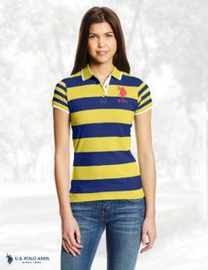 U.S. Polo Assn. Juniors Number 2 Inch Striped Polo