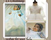Christening dress - Girl Baptism gown-  Baby girl Christening dress