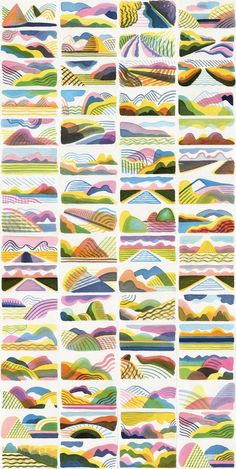 landscape inspired abstract layered colour: