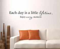 Vinyl Wall Decal Each day is a little by BlueCoutureDesign on Etsy