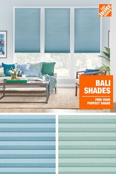 Bali - Custom - Window Treatments - The Home Depot Interior Paint Colors, Paint Colors For Home, Bali Shades, Home Decor Bedroom, Living Room Decor, Pool House Decor, Custom Shades, Custom Window Treatments, Interior Decorating