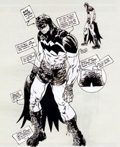 Costume study of Batman by artist [Paul Pope]. Scanned from the Batman:Year 100 collection (DC Batman Year 100, I Am Batman, Batman Art, Comic Book Artists, Comic Artist, Comic Books Art, Wanted Comic, Batman Kunst, Dc Comics