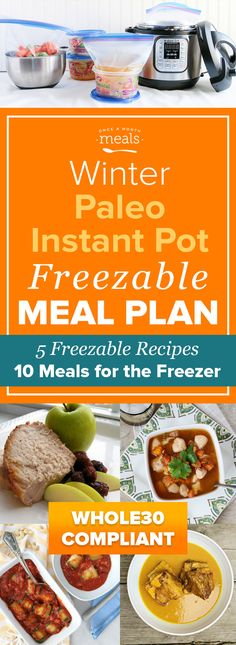 Prepare for your next Whole30 by stocking up on easy Whole30 compliant freezer meals you can make in the Instant Pot!
