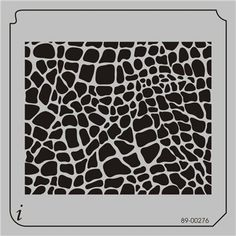 89-00276 - Animal Prints and Patterns Stencils - Airbrush Stencil - Stencil Pattern