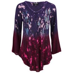 Cosmic Butterfly Long Sleeve Tunic at The Animal Rescue Site