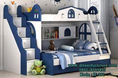 JualTempat Tidur Bertingkat Anak Laki-laki Modern Tempat Tidur Bertingkat Anak Laki-laki Modern -Merupakan Produk Tempat Tidur Tingkat Anak Terbaru Saat Ini,Berbahan Kayu Kering Kualitas Bagus,Serta Balutan Cat Duco Warna Biru Putih Sehingga Menampilkan Kesan Modern Minimalis.Model Tempat Tidur Anak Ini Bertingkat Dan Dibagian Tangga Berlaci Yang Nantinya Bisa Digunakan Untuk Menimpan Barang-barang / Permainan Anak. …