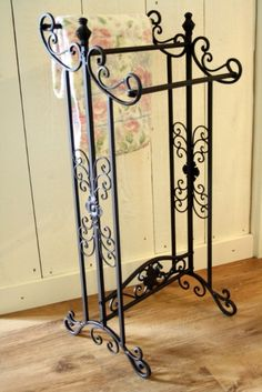 iron towel rack
