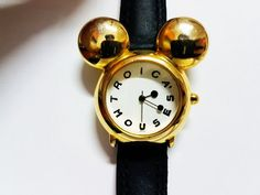 Vintage Mickey Mouse Watch, walt Disney watch, Disney ears, Kids watch, child watch, children watch for boy watch, watch for girl watch This model combines the playful style of Disneys Mickey Mouse character with the elegant gold and black features. Therefore, it is suitable for Disney Mickey Mouse Watch, Vintage Mickey Mouse, Disney Ears, Walt Disney, Mickey Mouse Characters, Boys Watches, Swiss Made Watches, Vintage Models, Antique Items
