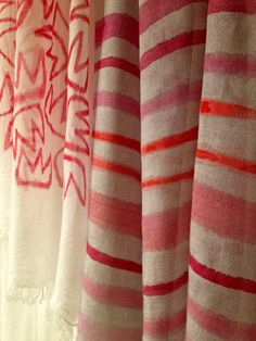 Handpainted foulard by Tulip