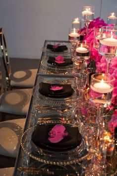 Pink wedding centerpiece idea; photo: Studio A Images