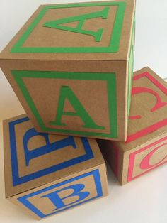 ABC Primary Color blocks baby shower decorations Source by etsy Cumple Toy Story, Festa Toy Story, Kids Party Themes, Birthday Party Decorations, Abc Party, Sofia Party, Craft Party, Toy Story Birthday, 2nd Birthday Parties