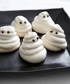 Meringue Ghost Cookies recipe - I'm gonna make these next week for my brother and sister-in-law