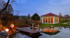 """Gartenhaus """"New Spa"""" mit Spitzdach"""