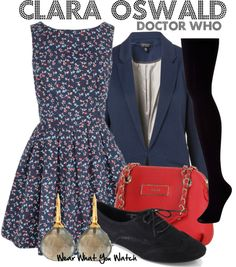 Inspired by Jenna-Louise Coleman as Clara Oswald on Doctor Who.