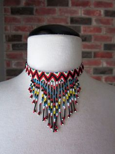 Vintage Seed Bead Native American Style by InsomniaVintage on Etsy, $34.00