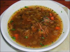 Beef Barley Soup Recipe served at Le Cellier in EPCOT at Disney World