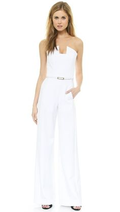 Channel a little Bianca Jagger at a courthouse wedding: Black Halo Lena Jumpsuit (on Shopbop)