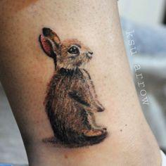 #tattoo #rabbit #minimalistic #ink #rtats #ksuarrow #rabbittattoo #тату #animal
