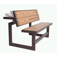 Space saving bench/dining table!! Lifetime Products - Lifetime Convertible Bench - 60054 - Home Depot Canada $219