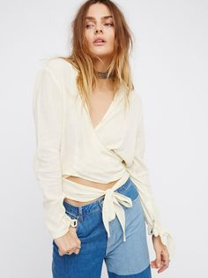 Sparrow Song Wrap Top at Free People Clothing Boutique