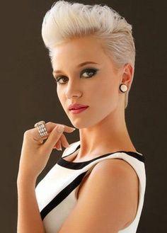 short hairstyles short haircut - short pompadour hairstyle for women Pixie Hairstyles, Short Hairstyles For Women, Trendy Hairstyles, Stylish Haircuts, Pixie Haircuts, Volume Hairstyles, Woman Hairstyles, Female Hairstyles, Fashion Hairstyles